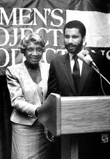 1990 Exceptional Achievement Awards Benefit_Mother Clara Hale, Sen. David Paterson-1