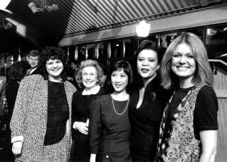 Wendy Wasserstein, Geraldine Fitzgerald, Kaity Tong, Jewell Jacksone McCabe, & Gloria Steinem (1989)