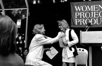 Stockard Channing (Emcee) and Blythe Danner_Women of Achievement Awards 1991-1