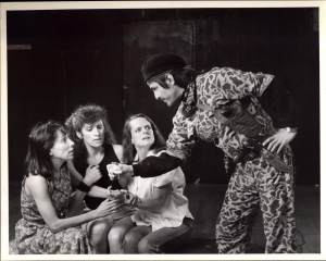 Geraldine Librandi, Didi Conn, Joan MacIntosh and Tino Juarez in CONSEQUENCE (1987)