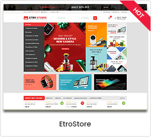EtroStore - WordPress theme for the WooCommerce electronics store