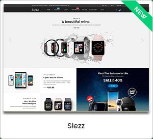 Siezz - Modern MarketPlace WordPress Theme