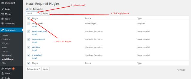 WordPress plugin active