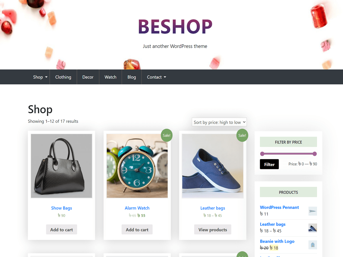BeShop WordPress Theme