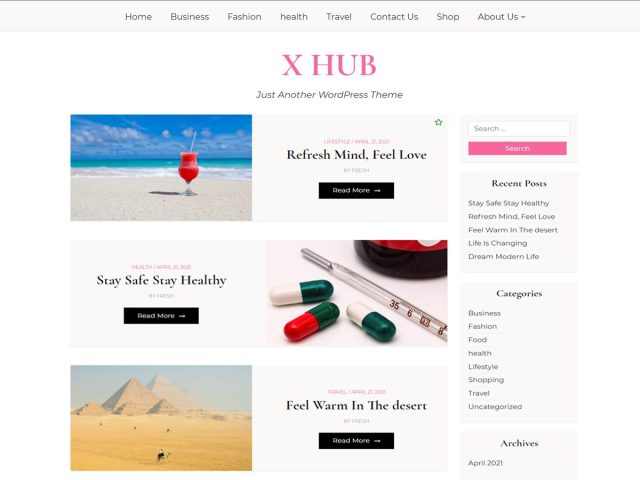X Hub WordPress Theme
