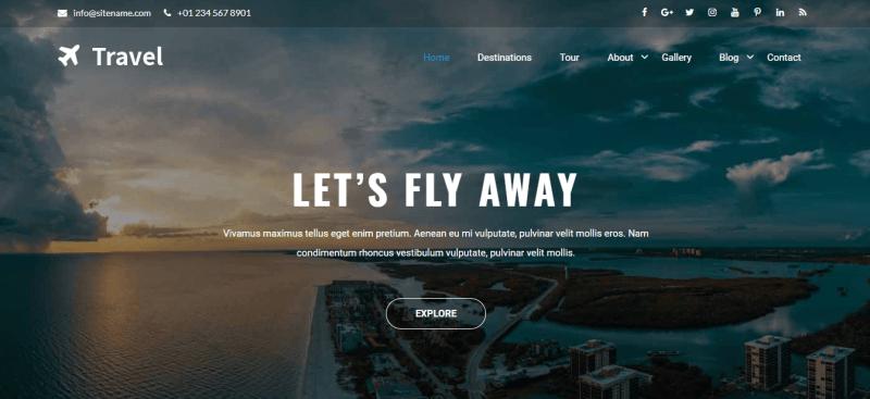 Travia Best Hotel WordPress Theme