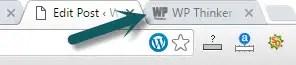 Setting of Site Icon in WordPress