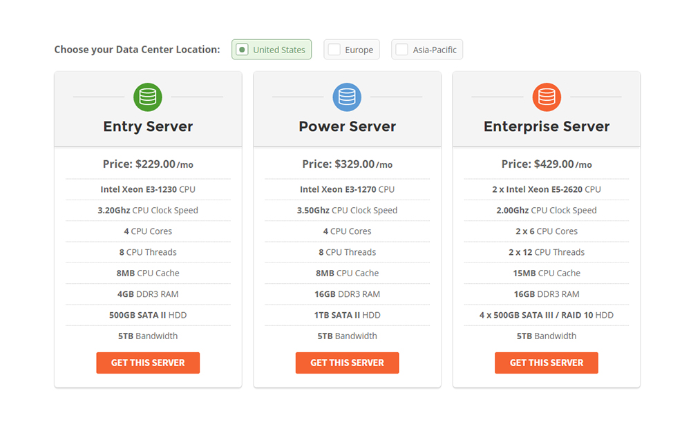 siteground dedicated hosting plans