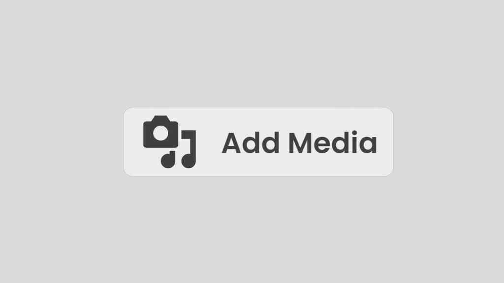 Add Media Button WordPress
