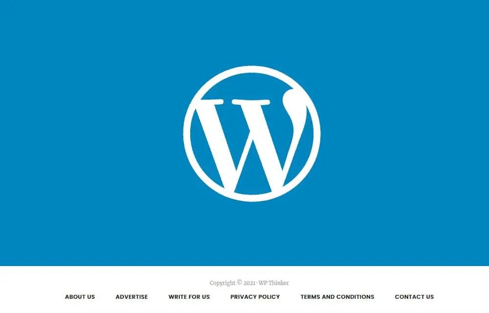Edit WordPress Footer