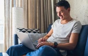 Person Blogging on WordPress
