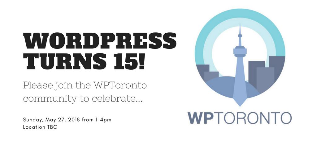 WordPress tuns 15!