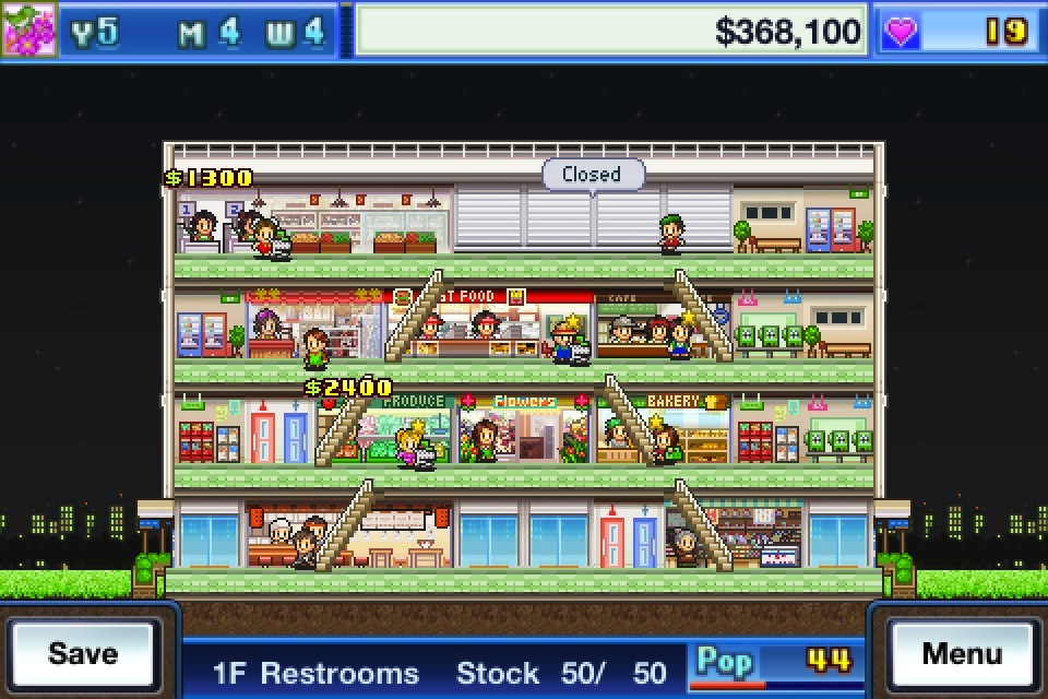 Mega Mall Story iTunes Kairosoft Apple