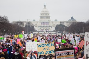 Marchers fill the National Mall during the Women's March in Washington DC on January 21, 2017. Photographed by Jason Bergman for VICE. jbergs@jbergs.com / 973-715-4572