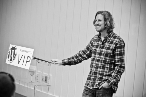 Matt Mullenweg at the WordPress.com VIP Workshop.
