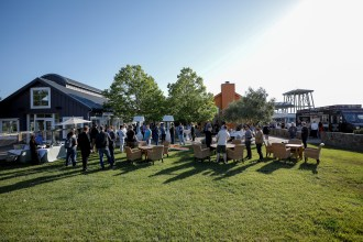 The courtyard at VIP Workshop