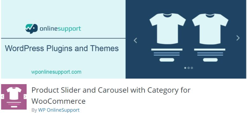 WP OnlineSupport Product Slider and Carousel