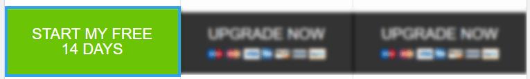 Mega menu trial account optin button