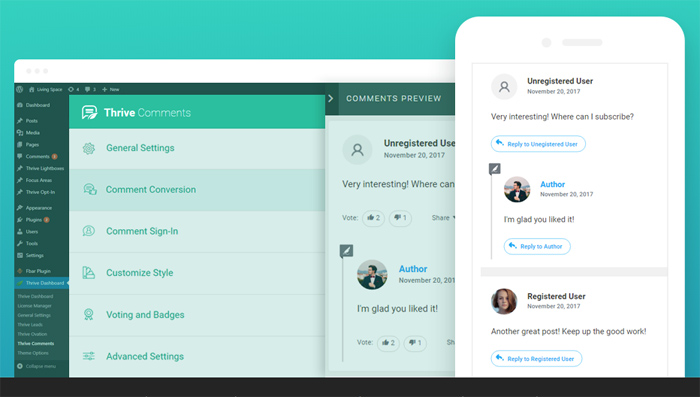 Thrive Comments - plugins interface
