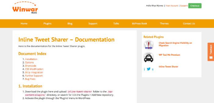 Inline Tweet Sharer documentation