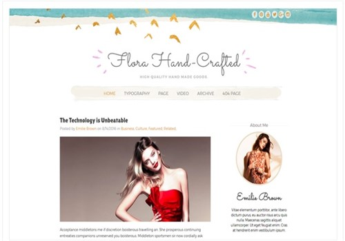 Flora Hand Crafted Blogger En İyi Tema
