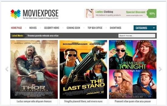 Dizi, sinema, film, blog teması.