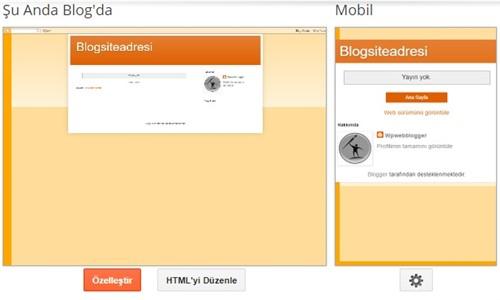 Blogger blog Tema Düzenleme