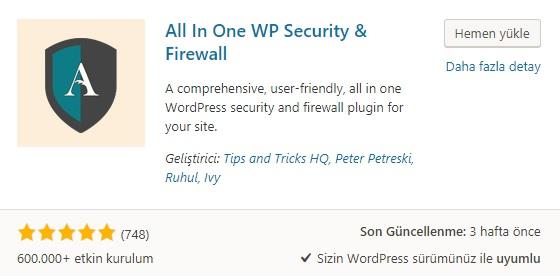 wordpress en iyi güvenlik eklentileri
