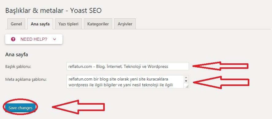 Wordpress Yoast Seo Eklentisi