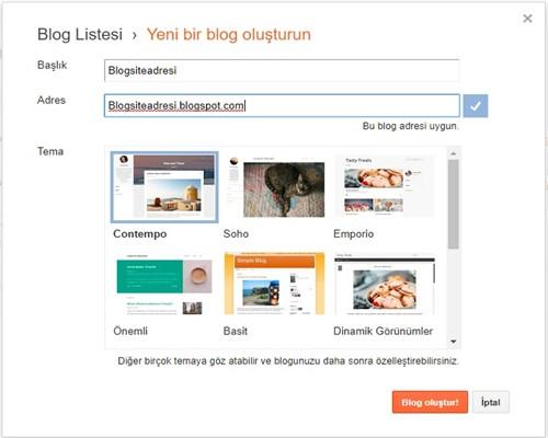 blogger site kurulumu