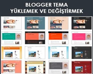 blogger tema şablonu yüklemek
