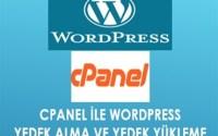 Cpanel ile Wordpress yedek alma