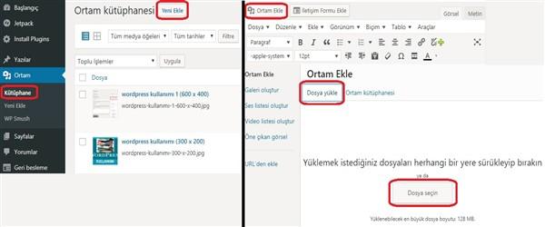 Wordpress kullanımı
