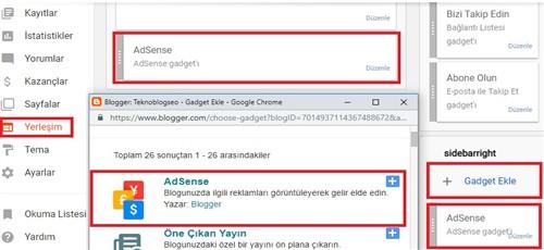 blogger reklam ekleme