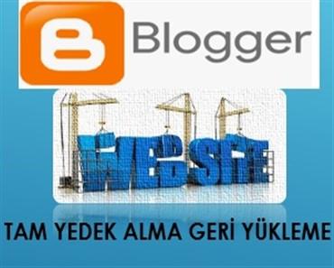 Blogger Site Yedek Alma