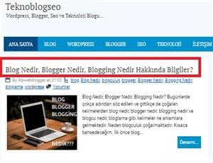 Blogger Yayın Alanı Düzenlemek