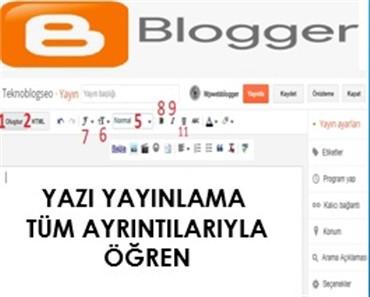 Blogger Yayın Alanı Düzenleme