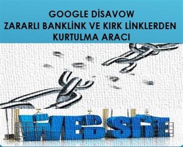 Zararlı backlinklerden kurtulmak Google Disavow kullanımı