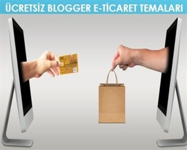 Ücretsiz Blogger E Ticaret Temaları