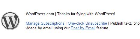 WordPress says thank you
