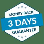 3 days money back guarantee