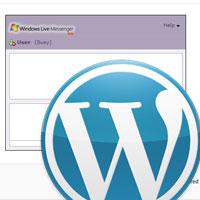 Create a WordPress Live Chat widget using Windows Live