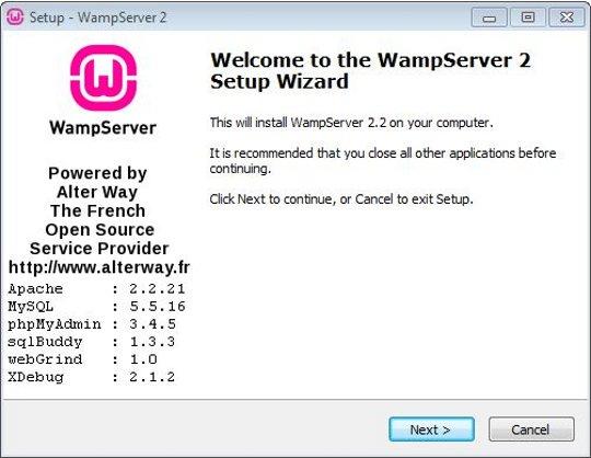 Install WampServer step 1