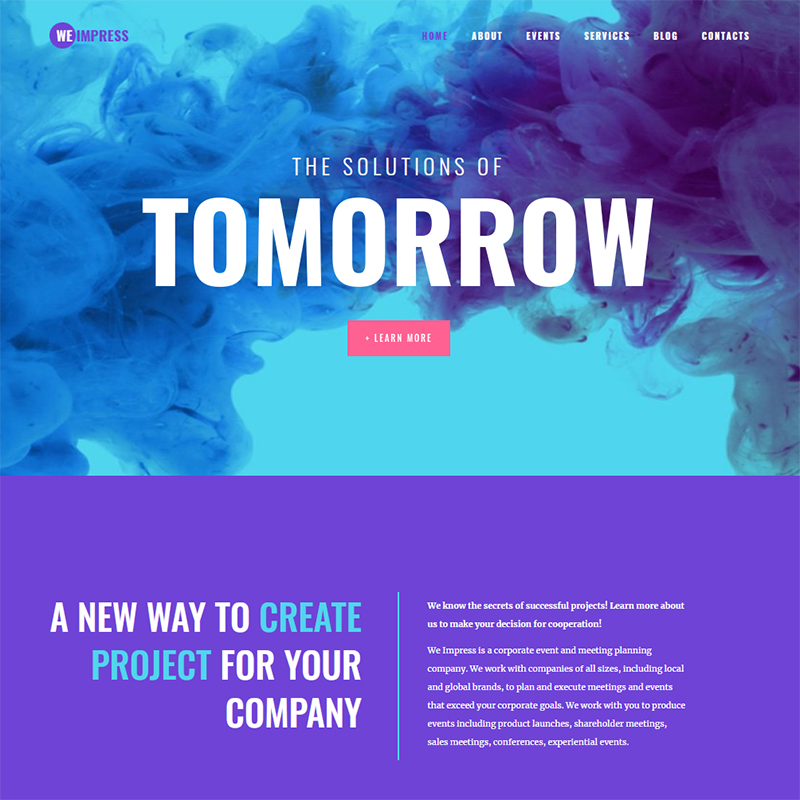 WeImpress - New Event Agency WordPress Template