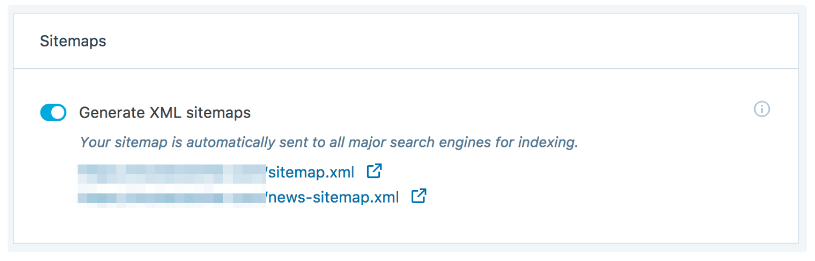 The XML Sitemaps option in Jetpack.