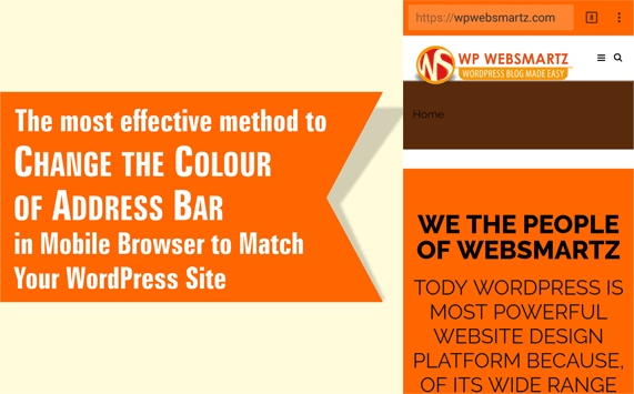 The most effective method to Change the Colour of Address Bar in Mobile Browser to Match Your WordPress Site