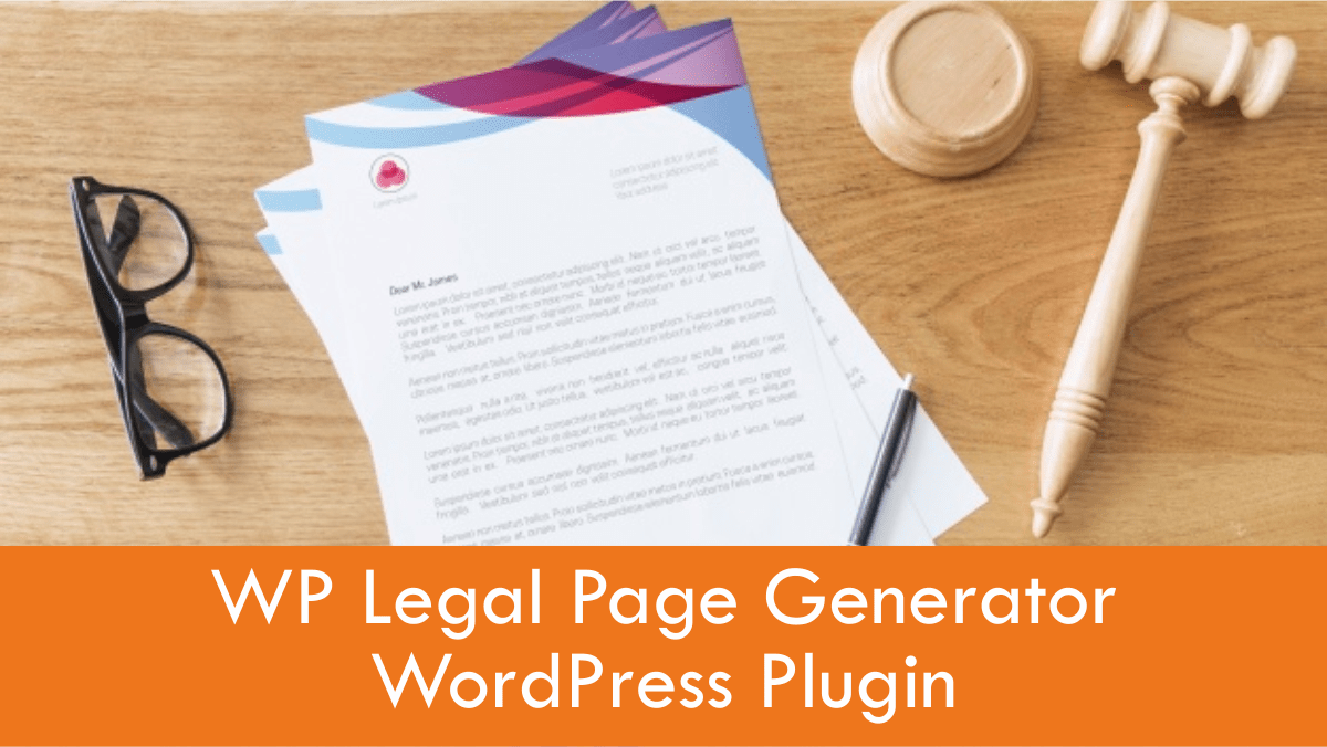 WP Legal Pages Privacy Policy Page Generator WordPress Plugin