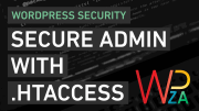 Secure the wp-admin with .htaccess file