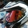 Araiツアークロス3 ヘルメットのシールドを交換。ターミネーター化も紹介します!