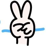 ピースサインデビューv(≧∇≦)